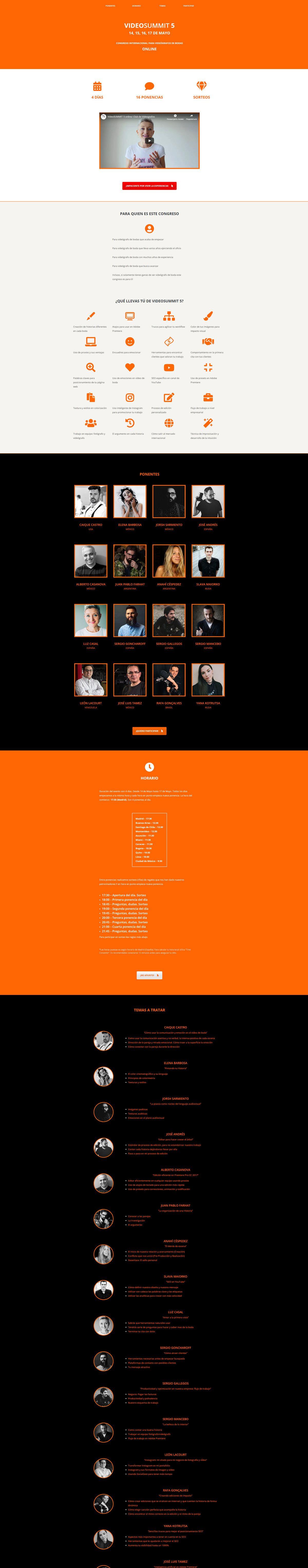 Diseño de paginas web. Pagina de aterrizaje